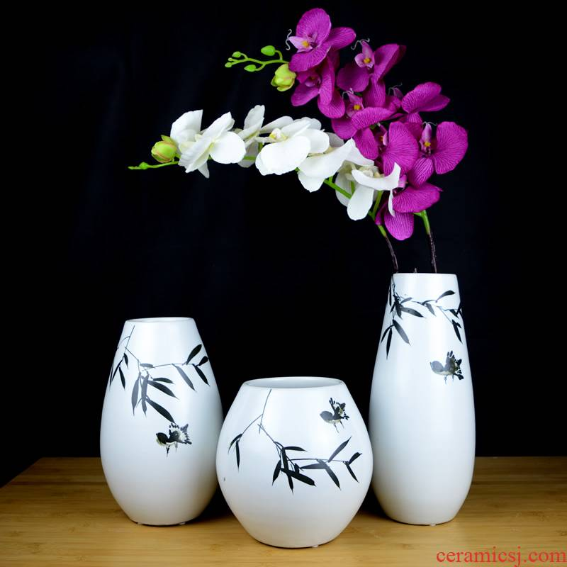 Jingdezhen ceramic hand - made of new Chinese vase creative living room TV cabinet dry flower arranging flowers home furnishing articles