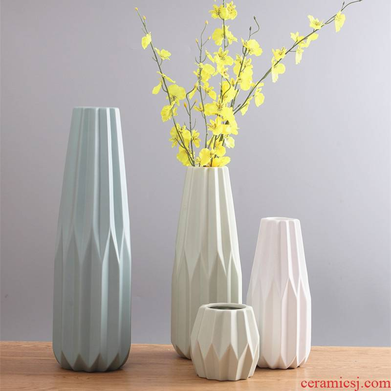 North European I and contracted ceramic vase origami dried flowers flower arrangement sitting room small and pure and fresh home furnishing articles