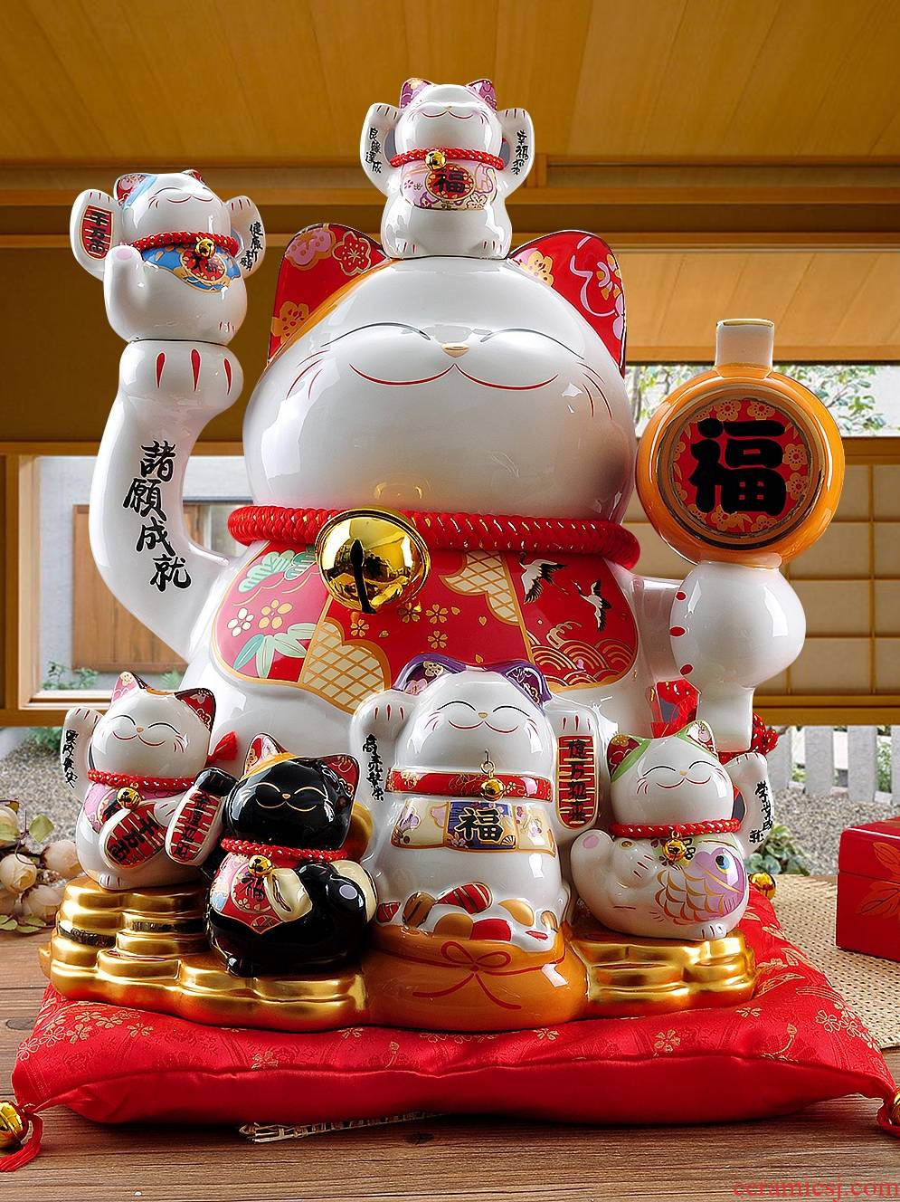 Stone workshop the achievement to extra large store treasure plutus cat ceramic furnishing articles opening gifts