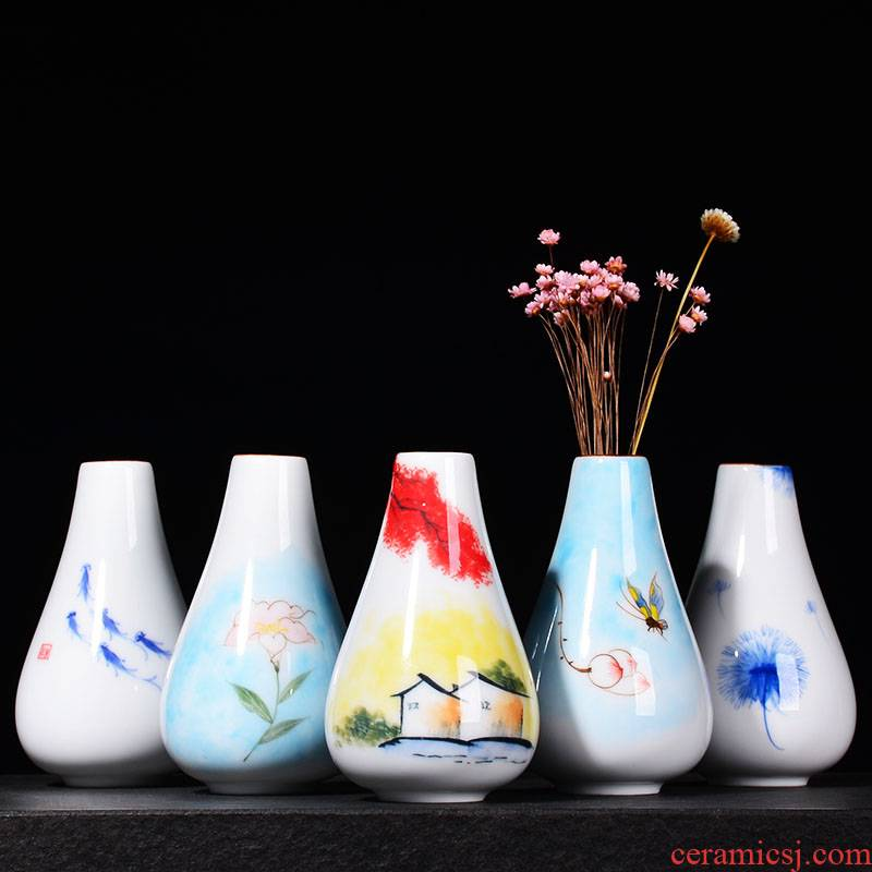 YOU ceramic hydroponic hand - made flower vase contracted desktop decoration furnishing articles dry flower tea flower containers