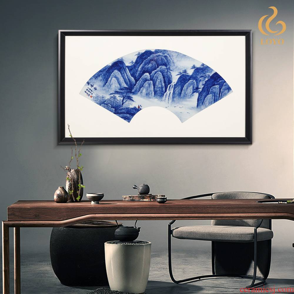 Jingdezhen ceramics porcelain plate painter in the sitting room the bedroom adornment mural table sofa setting wall hang a picture