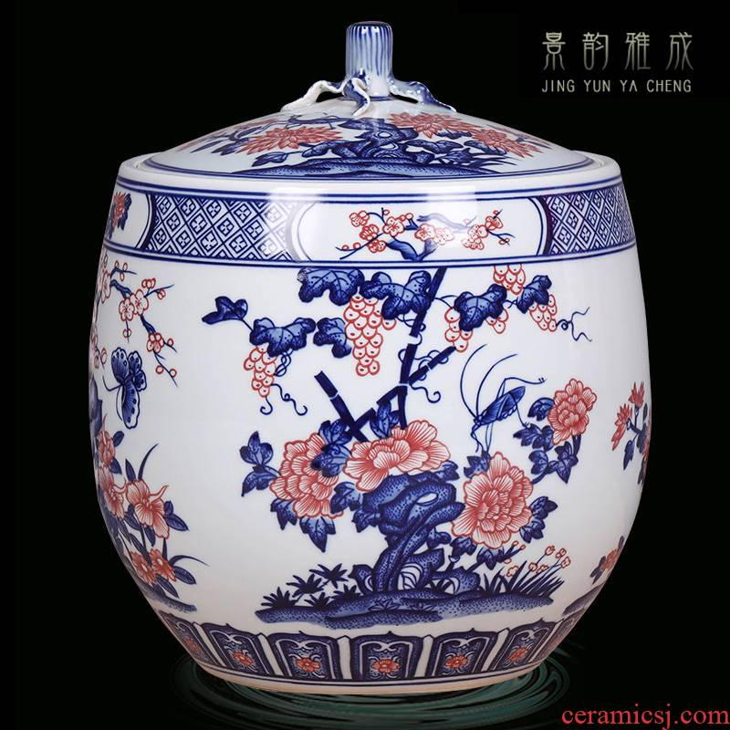 Jingdezhen blue and white youligong ceramic vase decoration restoring ancient ways furnishing articles of new Chinese style household porcelain decoration in the sitting room