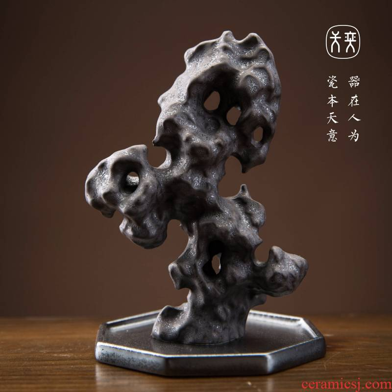 The yi song yi ceramics jingdezhen day accompany furnishing articles ornaments hand - carved tea pets play dry landscape