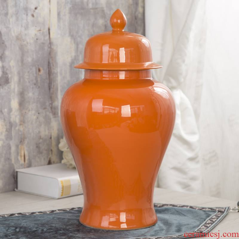 Jingdezhen ceramics general pot vase Chinese style restoring ancient ways example room living room decoration household soft adornment is placed