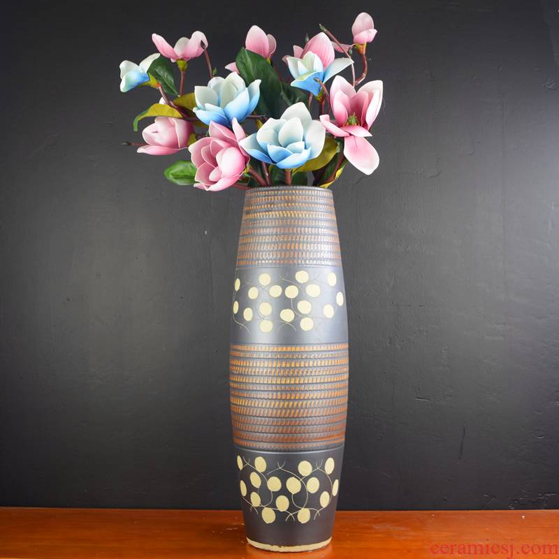 Jingdezhen landing large vases, pottery and porcelain, the sitting room is I and contracted style the dried flower arranging home furnishing articles