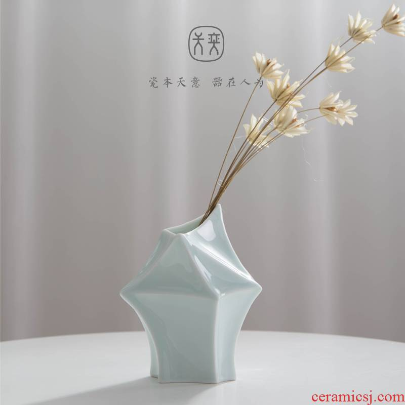 The tat day yi ceramic vase furnishing articles TV ark, desktop hydroponic flowers adornment flowers sitting room tea table