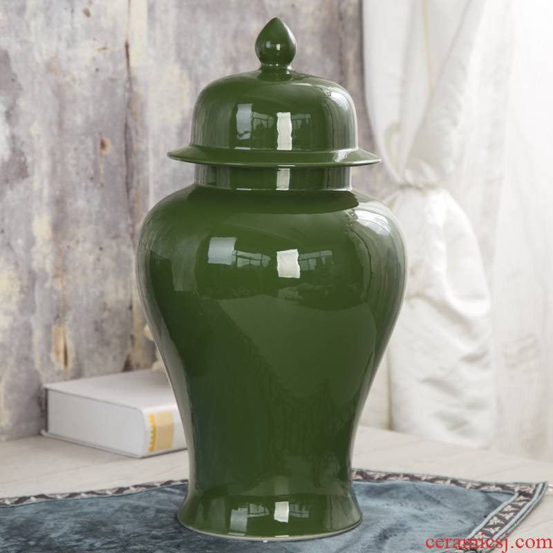 Jingdezhen ceramic general tank handicraft furnishing articles of new Chinese style decoration decoration television ark, household soft adornment
