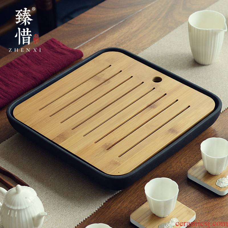 Become precious little oversized water ceramic kung fu tea sets dry tea tray household contracted Japanese small tea table