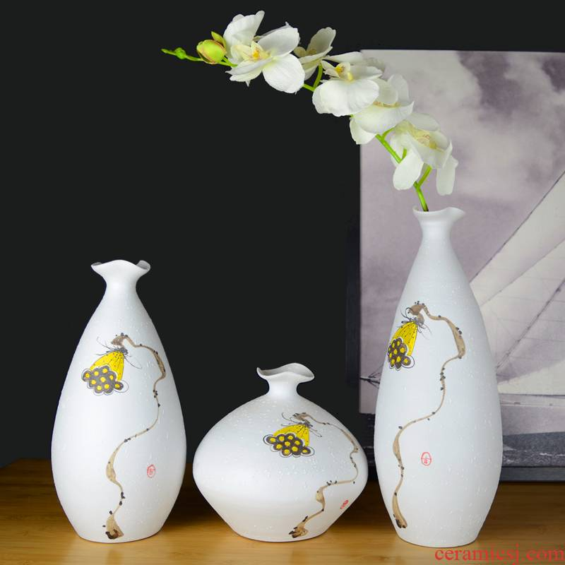 Jingdezhen ceramic modern new Chinese vase creative living room TV cabinet porch household adornment handicraft furnishing articles
