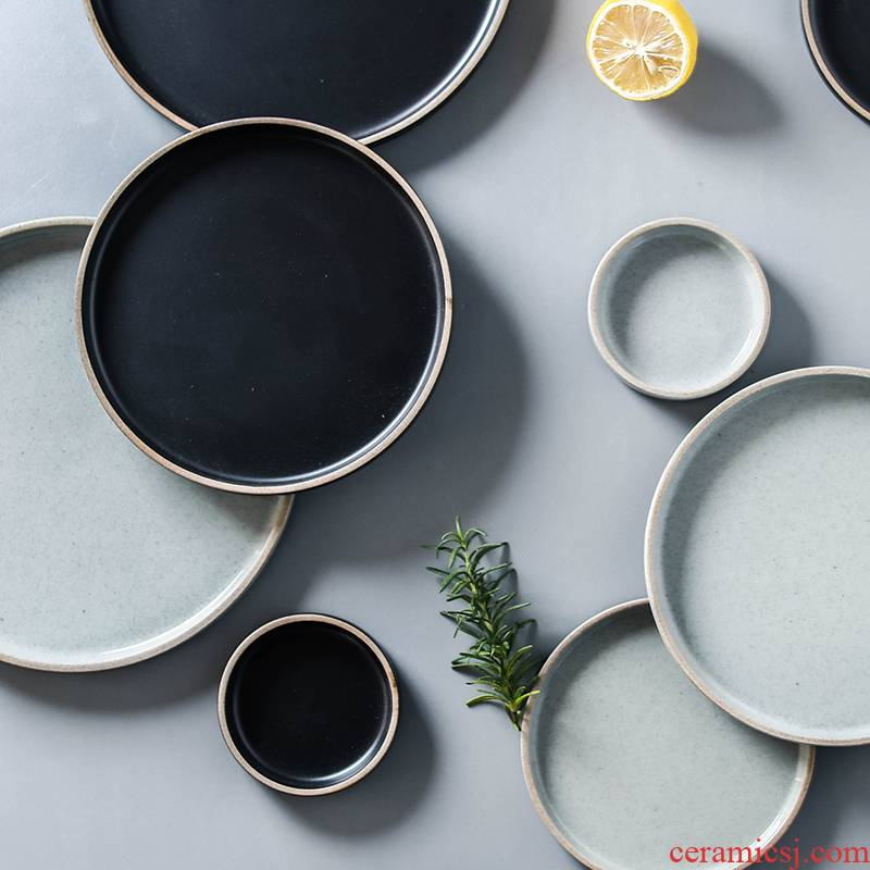 Element treasure European - style matte enrolled glaze ceramic tableware creative western food dish dish with rice bowls bowl mercifully rainbow such use