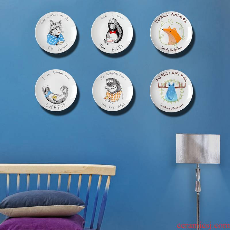 Jingdezhen ceramic decoration hanging dish wall act the role of ceramic wall act the role ofing sitting room background wall combination pendant ornaments on the wall