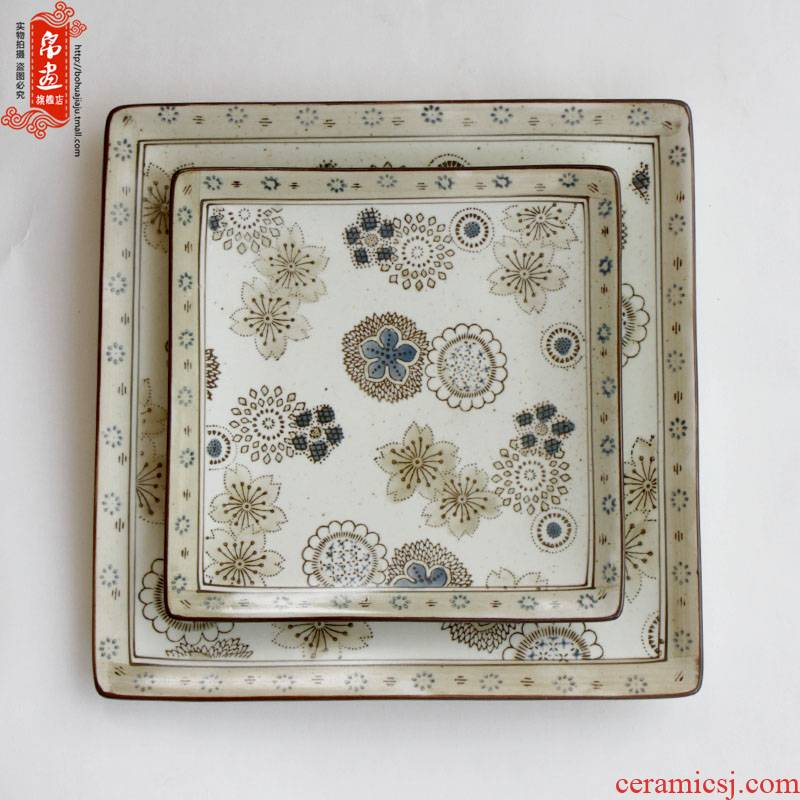 Jingdezhen ceramic dish plate under the high temperature colored glaze color home sitting room sushi snack plate of tea table furnishing articles