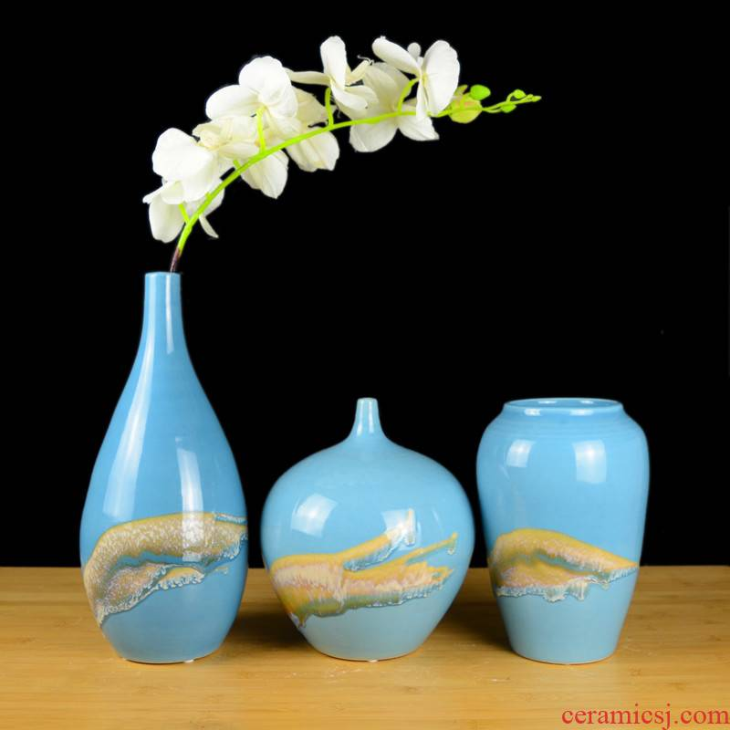 Blue creative new Chinese style household decoration decoration furnishing articles sitting room ark of jingdezhen ceramic flower vases