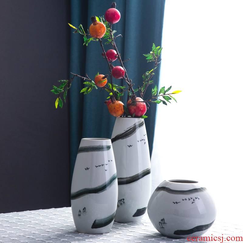 The New Chinese jingdezhen ceramic vase furnishing articles wine sitting room porch zen flower arrangement home decoration, decoration