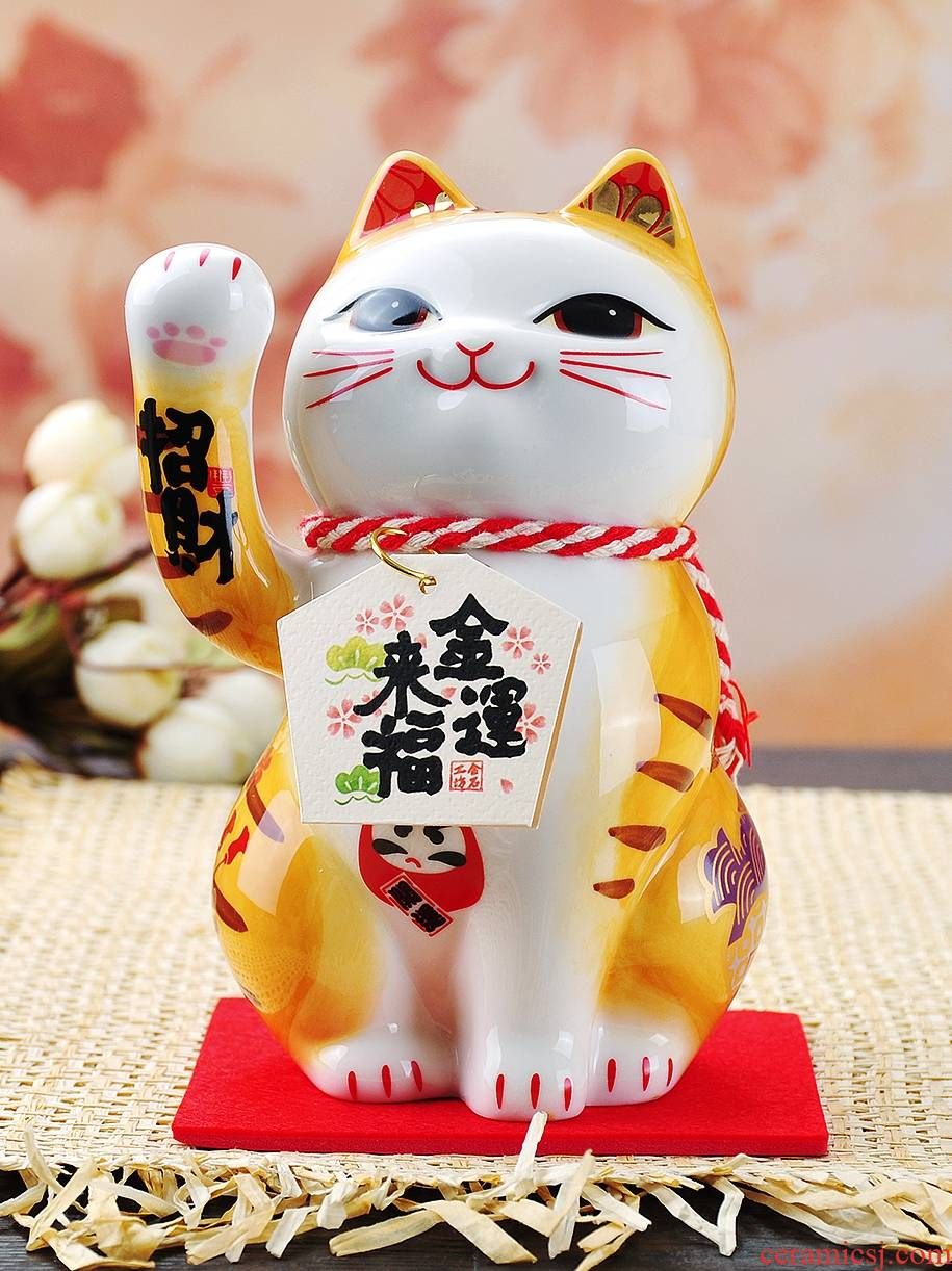 Plutus cat furnishing articles small ceramic piggy bank special graduation present girlfriends girls boys birthday gift