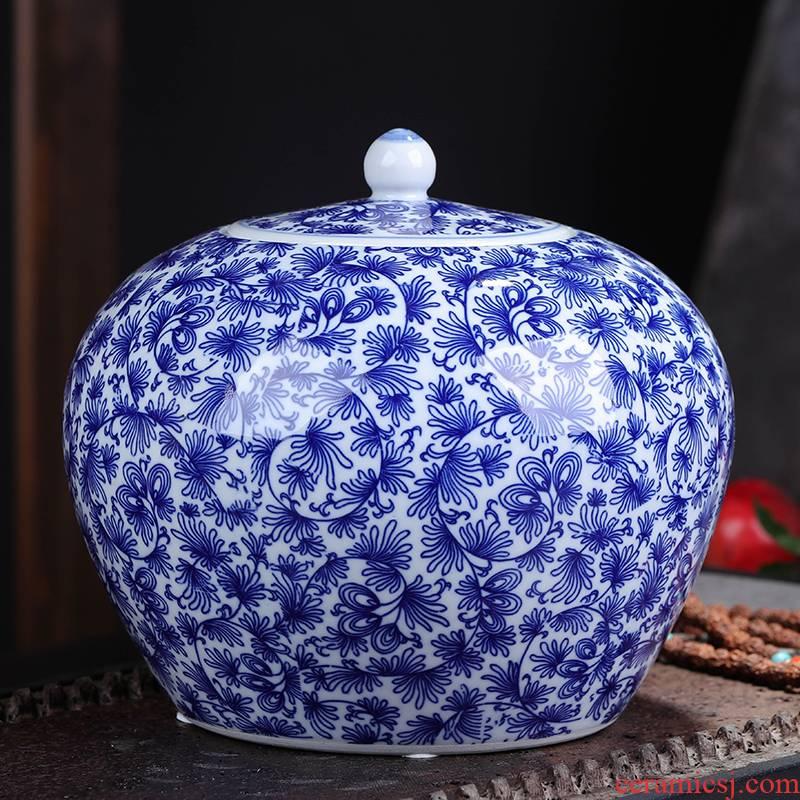 Jingdezhen ceramic POTS awake pu 'er tea pot, moistureproof box household seal storage tank