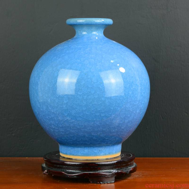 Jingdezhen ceramics vase furnishing articles sitting room creative new rich ancient frame dried flowers flower arrangement of Chinese style household ornaments