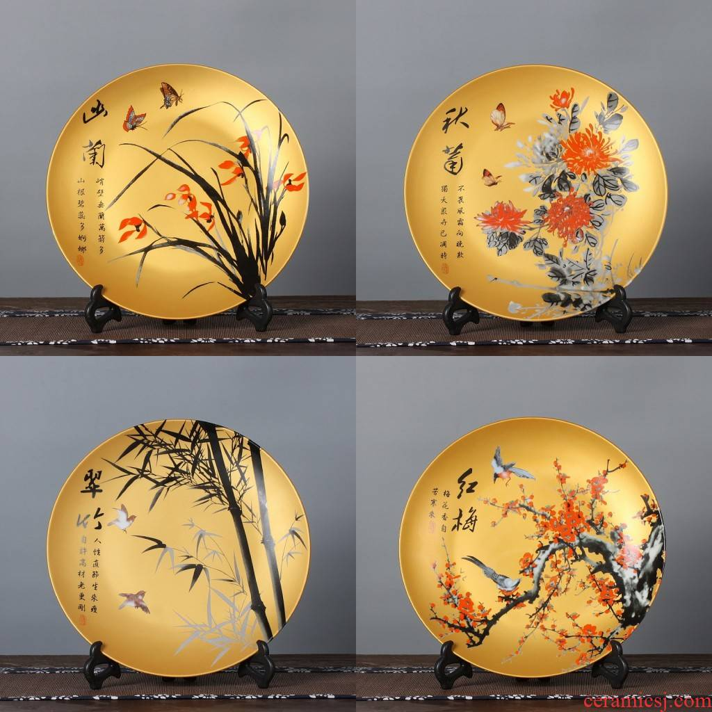 Creative home decoration ceramic decoration plate hang dish plate modern living room TV ark adornment furnishing articles