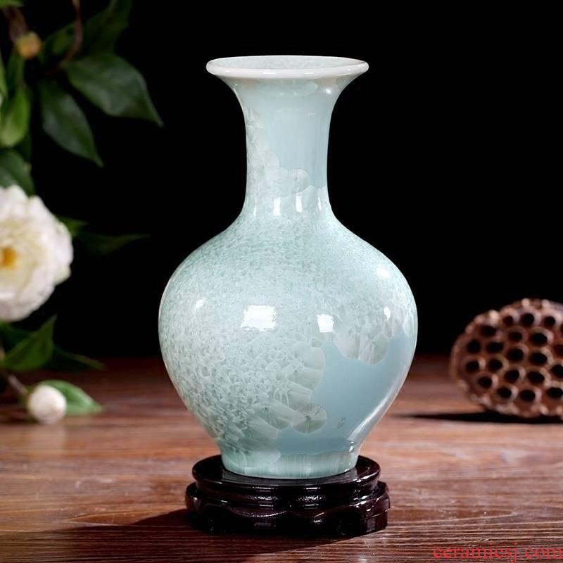 Jingdezhen ceramic crystalline glaze floret bottle home sitting room study office desktop dining - room table flower arranging furnishing articles
