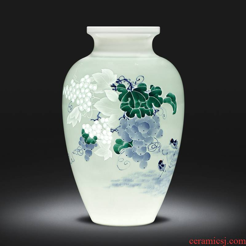 The Master of jingdezhen ceramics hand - made pastel thin foetus vase of new Chinese style household adornment rich ancient frame furnishing articles sitting room