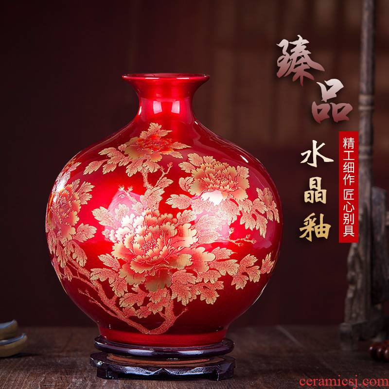 372 jingdezhen ceramics glaze crystal vases, flower arranging I and contracted home sitting room adornment handicraft furnishing articles