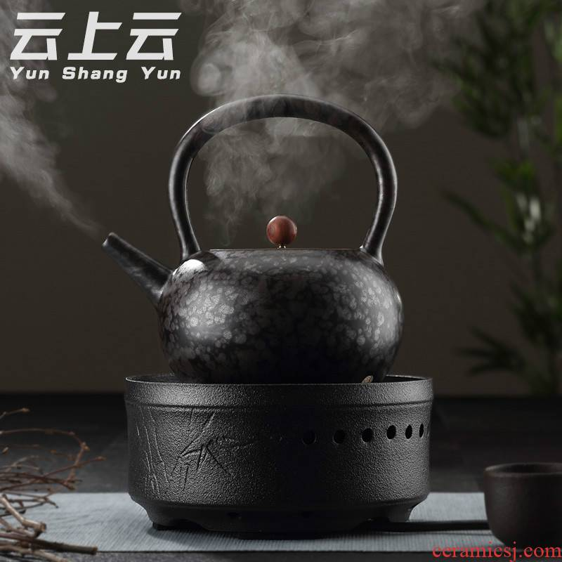 Cloud Cloud, black pottery automatic electric TaoLu the ceramic tea boiled tea, the electric heating boiling kettle household black tea tea stove