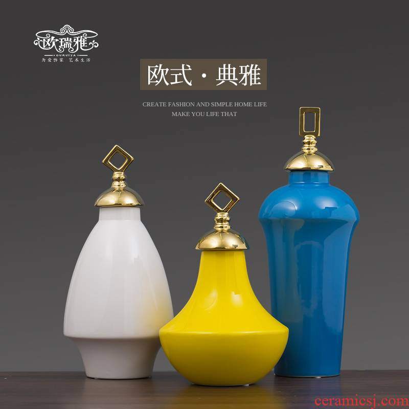 European creative light key-2 luxury furnishing articles ceramic vases, I and contracted sitting room porch decoration bedroom TV ark, restaurant