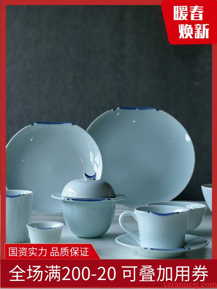 TaoXiChuan jingdezhen creativity has had gloriously enrolled ceramic tableware suit combination of Chinese style household dishes soup cup coffee cup