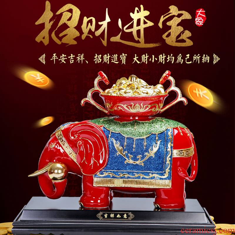 True sheng wing elephant household act the role ofing is tasted sitting room adornment office ceramic creative handicraft furnishing articles housewarming
