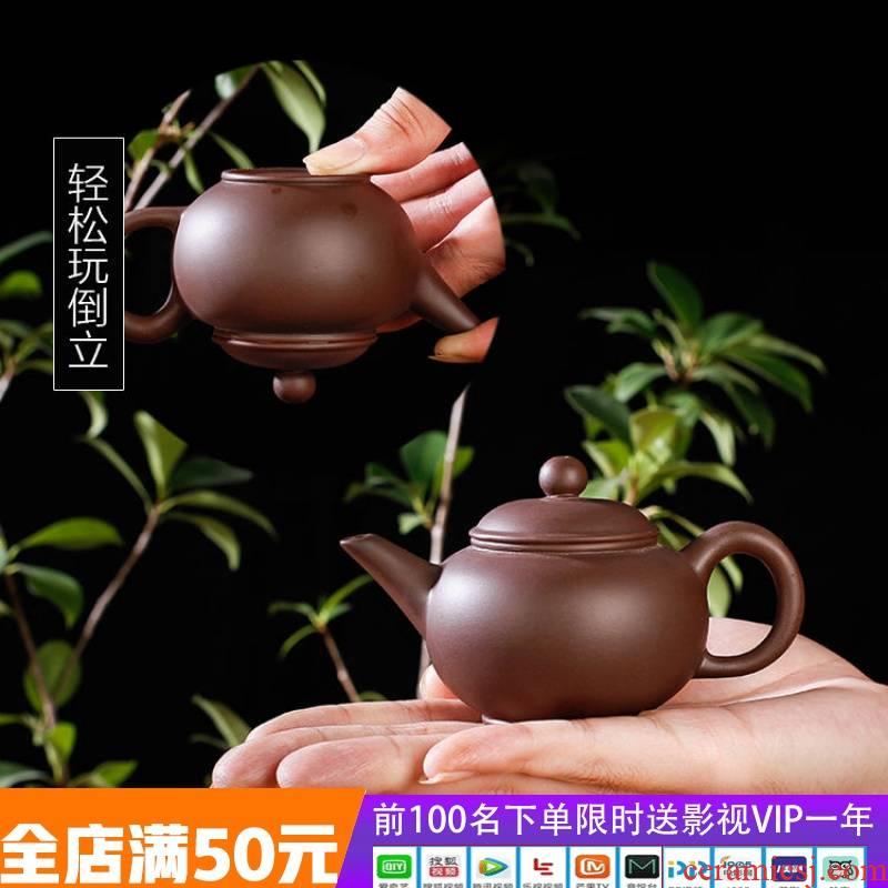 Yixing filtering small manual it zhu xi shi mud pot teapot ceramic flower pot pot pot on sale