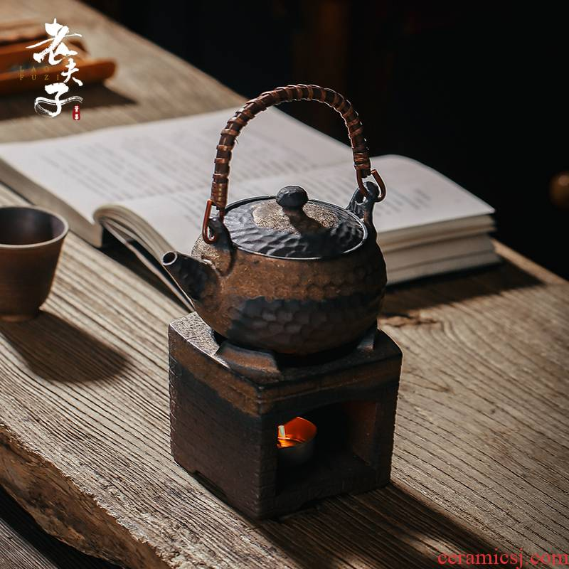 Archaize boiling tea stove coarse TaoWen teapot charcoal'm burning flame of alcohol burn blisters teapot household kung fu tea tea device