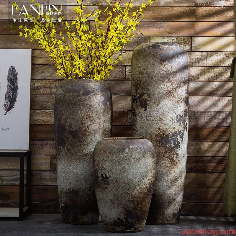 Jingdezhen do old Chinese style restoring ancient ways ceramic vase TV ark, large sitting room ground flower arrangement China restaurant