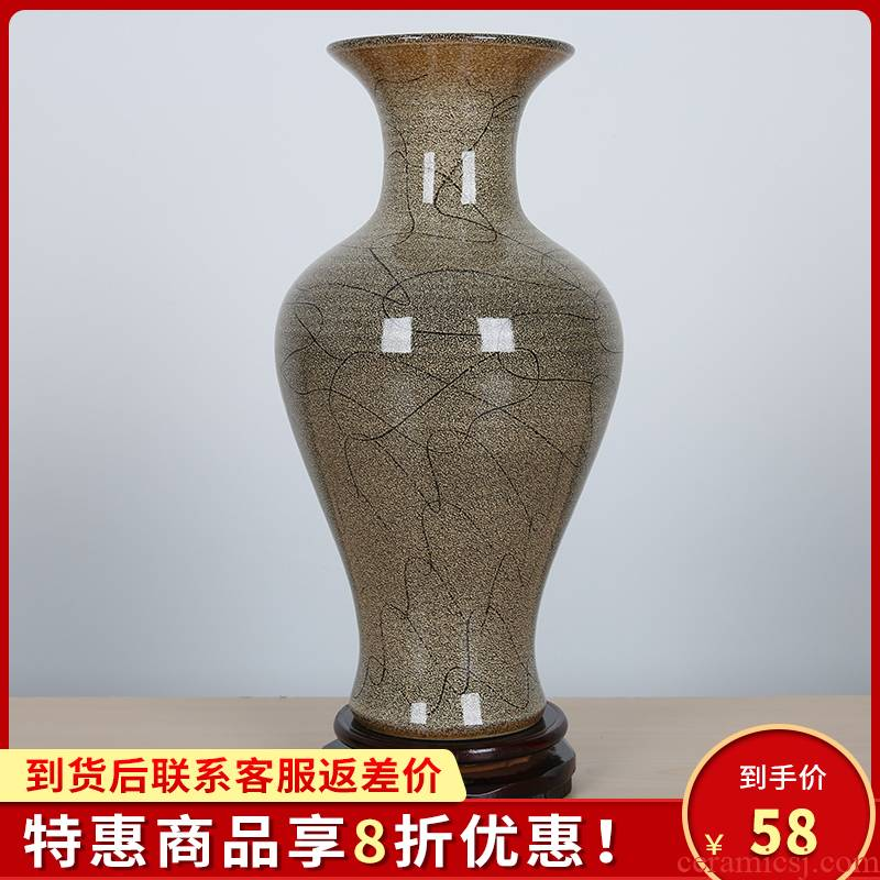 386 jingdezhen ceramics creative color glaze flower vases, I and contracted household decorations furnishing articles
