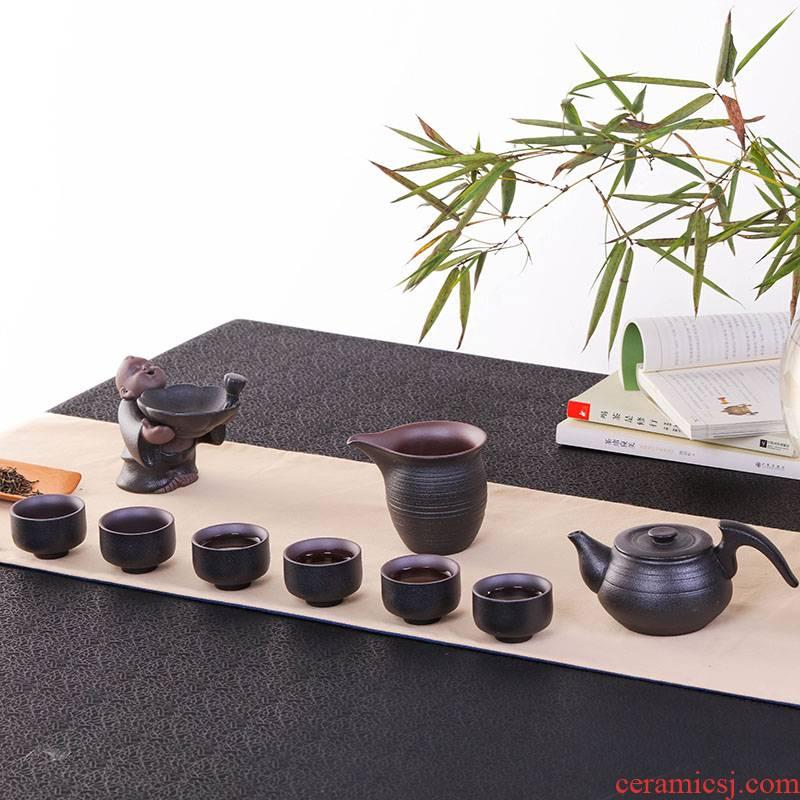 Jingdezhen kung fu tea set of black suit household take the teapot fair keller cup) a complete set of ceramic tea set