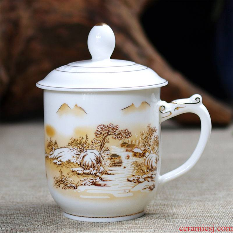 Catalpa xin jingdezhen ceramic cups with cover cup personal office glass tea cup with gift box gift mugs