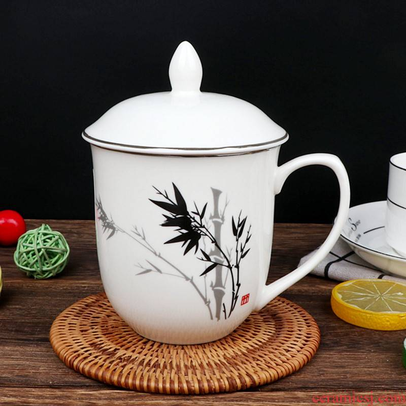 Ya cheng DE welcome cup classic bamboo flower tea cups ceramic cup meeting of ceramic office cup with the cup