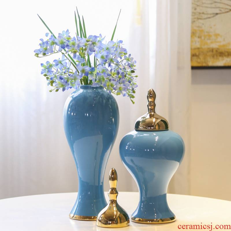 TV ark, ceramic flower vases, mesa porch place modern new Chinese style flower implement living room table decoration decoration