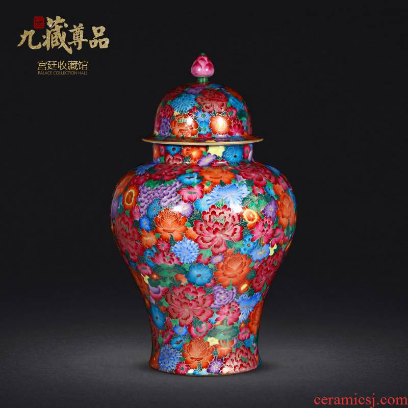 Jingdezhen porcelain vases, antique hand - made general famille rose see colour thread can collect ornament gift porcelain