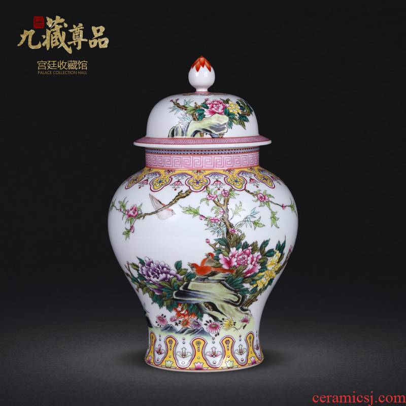 Jingdezhen ceramics industry general antique hand - made pastel flowers have fragrance can sitting room adornment crafts