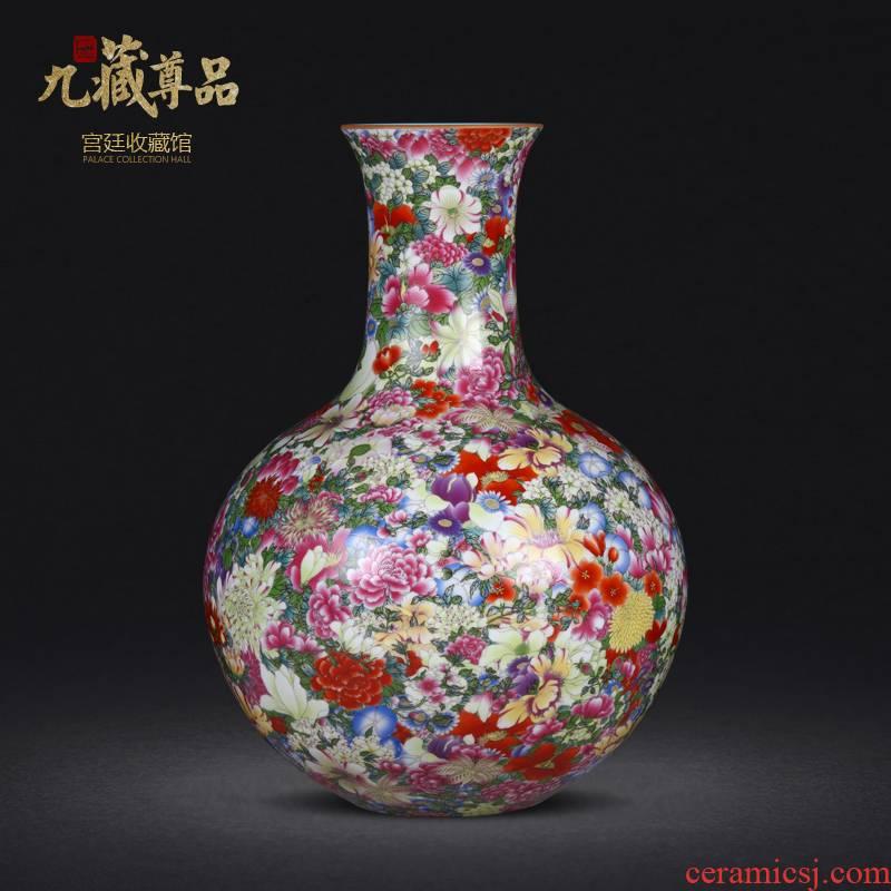 Jingdezhen ceramics imitation the qing qianlong colored enamel bottle than a flower vase household decoration decoration furnishing articles sitting room