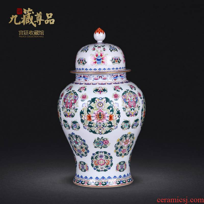 Jingdezhen ceramics antique hand - made pastel spends the general pot sitting room porch household adornment handicraft furnishing articles