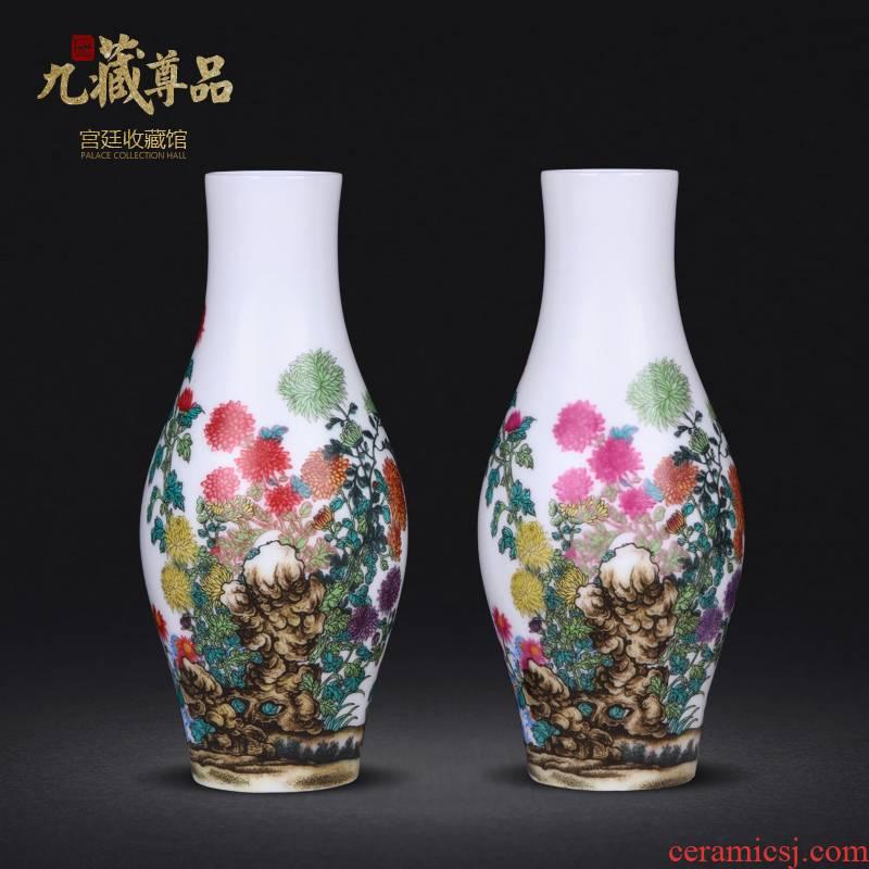 Jingdezhen ceramics imitation the qing qianlong colored enamel enamel ten treasure sitting room porch decoration penjing collection