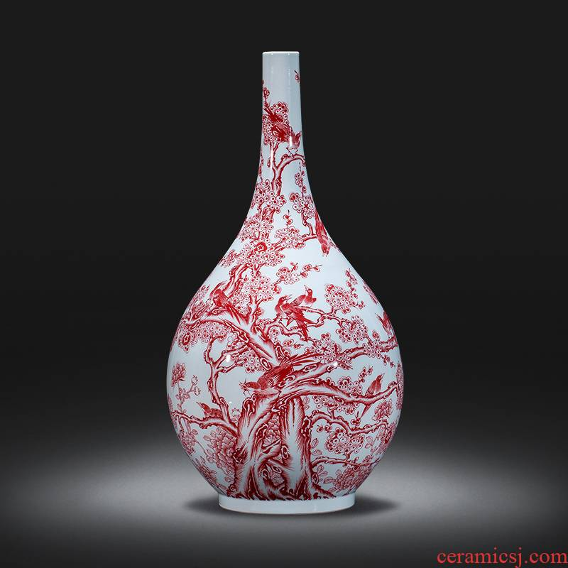 Jingdezhen ceramic hand - made vases imitation qianlong youligong mei pay-per-tweet on gall bladder the sitting room adornment handicraft furnishing articles