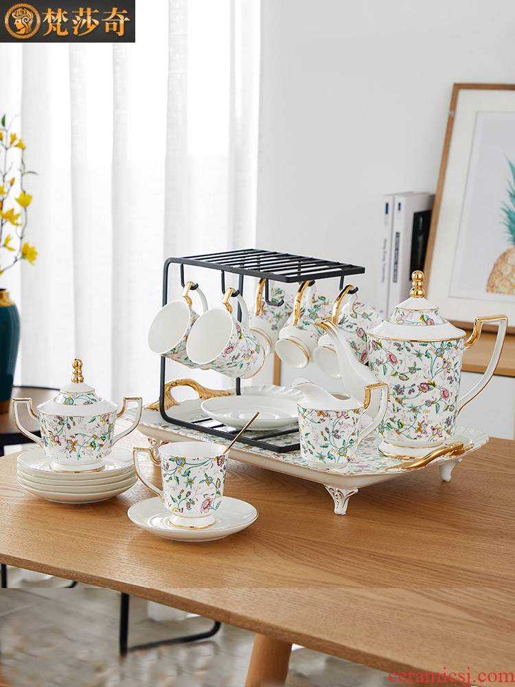 Coffee cup small European - style key-2 luxury ceramic suit household table English afternoon tea cup ins delicate contracted