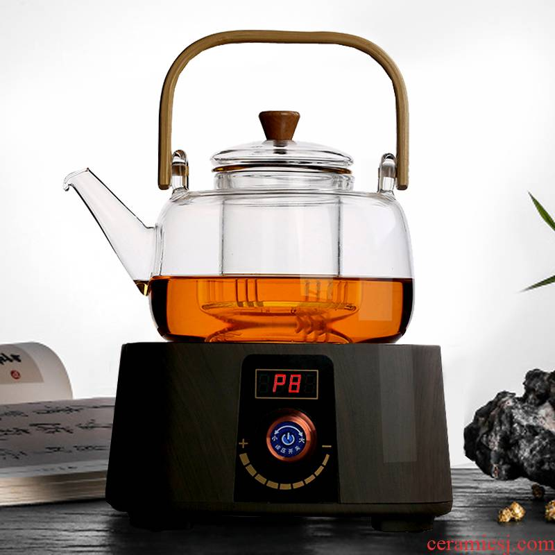 Household electric TaoLu boiled tea, glass tea set high temperature resistant filter red teapot single pot kettle