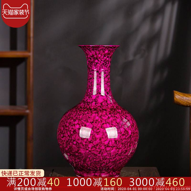 Jingdezhen ceramics, vases, flower arranging is modern Chinese creative fashion home decoration sitting room place red