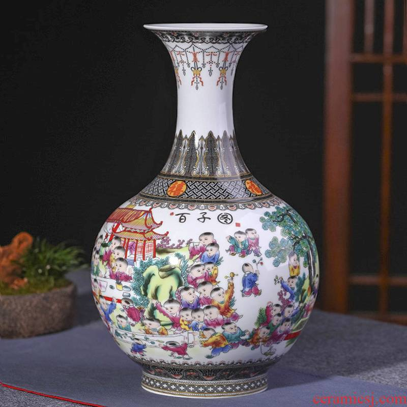 Jingdezhen ceramics vase furnishing articles sitting room flower arranging the ancient philosophers figure thin body porcelain Chinese style household decorative arts and crafts