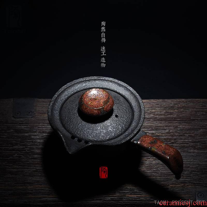 Poly real scene ceramic teapot single pot of kung fu tea tea ware pu - erh tea are it mercifully Japanese coarse pottery Japan side to pot