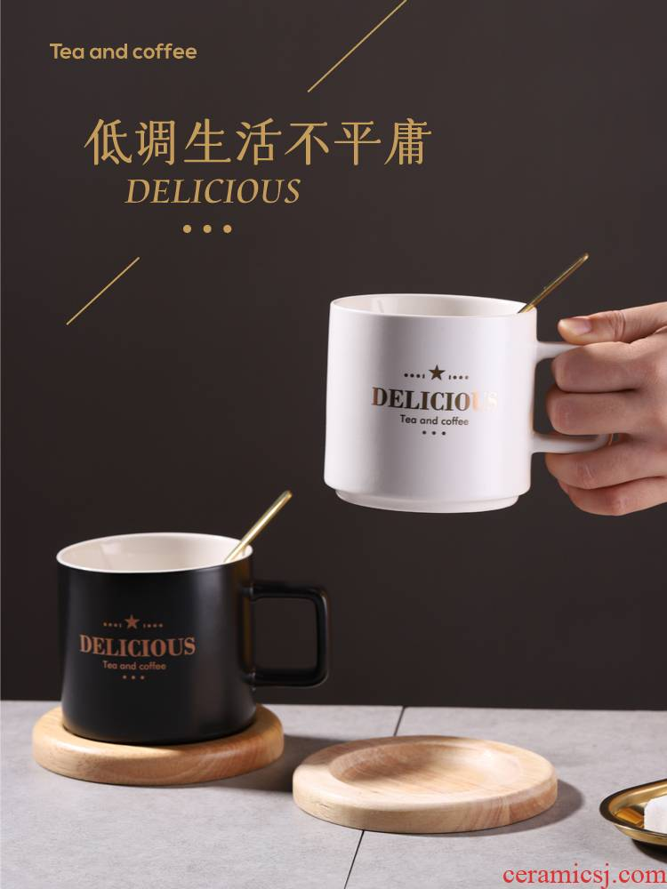 Contracted mark cup creative move trend ceramic lovers ins coffee cup home drinking a cup of northern Europe