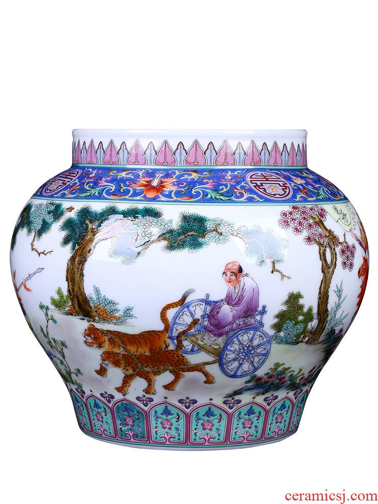Jingdezhen ceramic housewarming gift hand - made porcelain antique vase, the sitting room porch of new Chinese style creative arts and crafts